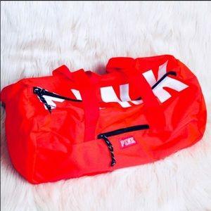 1ecfa50876fe PINK Victoria s Secret Bags - VS PINK Neon Red Duffle Gym Bag